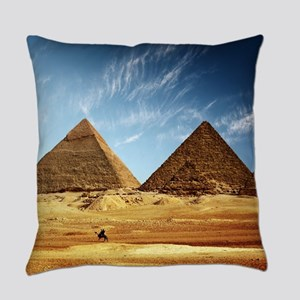 Egyptian Pyramids and Camel Everyday Pillow
