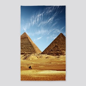 Egyptian Pyramids and Camel Area Rug