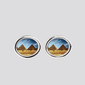 Egyptian Pyramids and Camel Oval Cufflinks