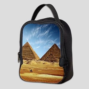 Egyptian Pyramids and Camel Neoprene Lunch Bag