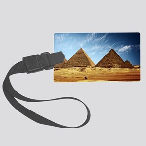 Egyptian Pyramids and Camel Large Luggage Tag