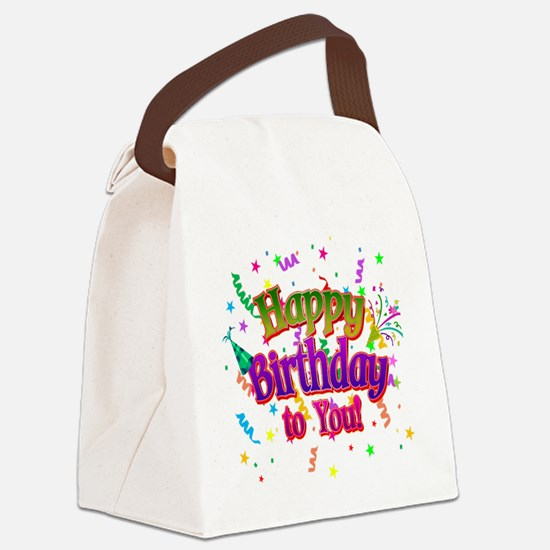 Happy Birthday To You Canvas Lunch Bag