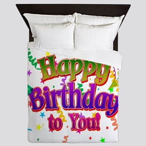Happy Birthday To You Queen Duvet