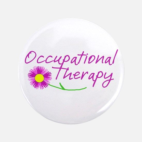 Occupational Therapy Hand Flower Button