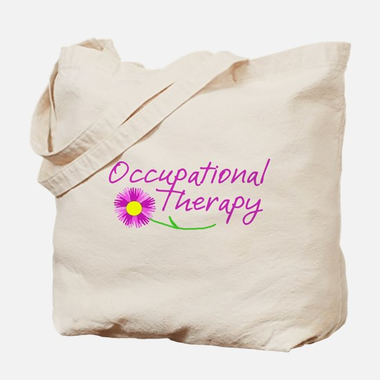 Occupational Therapy Hand Flower Tote Bag