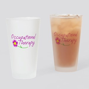 Occupational Therapy Hand Flower Drinking Glass