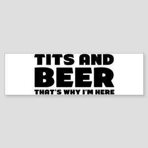 Tits And Beer Bumper Sticker