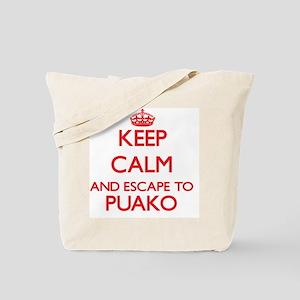 Keep calm and escape to Puako Hawaii Tote Bag
