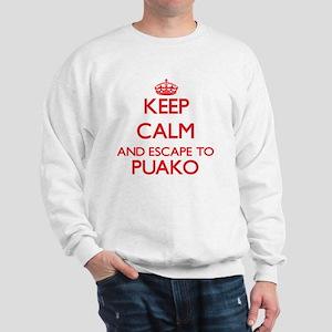 Keep calm and escape to Puako Hawaii Sweatshirt