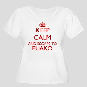 Keep calm and escape to Puako Ha Plus Size T-Shirt