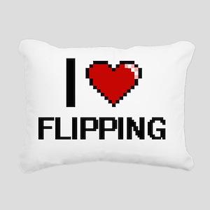 I love Flipping Rectangular Canvas Pillow