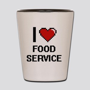 I love Food Service Shot Glass