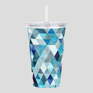 Watercolor Triangles B Acrylic Double-wall Tumbler