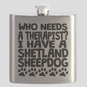 I Have A Shetland Sheepdog Flask