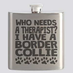 I Have A Border Collie Flask