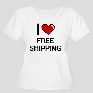 I love Free Shipping Plus Size T-Shirt
