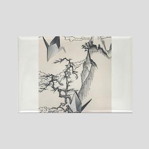 Origami Crane Landscape Magnets