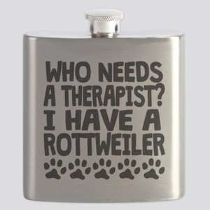 I Have A Rottweiler Flask