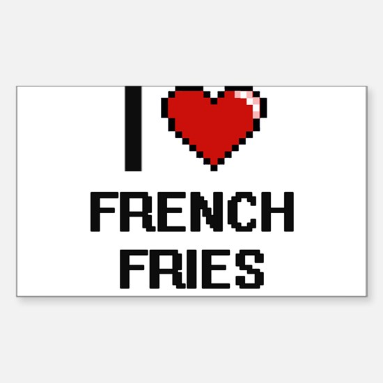I love French Fries Decal