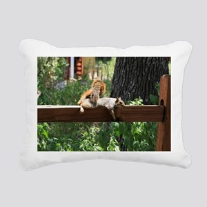 Sunbathing Rectangular Canvas Pillow