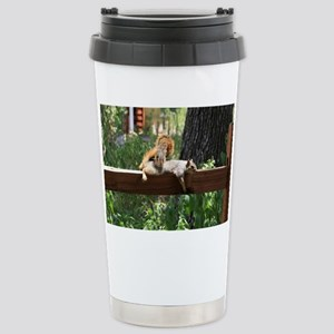Sunbathing Stainless Steel Travel Mug