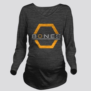 Bones Logo Long Sleeve Maternity T-Shirt