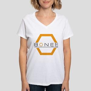 Bones Logo Women's V-Neck T-Shirt