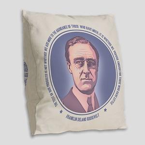 FDR - Progress Burlap Throw Pillow