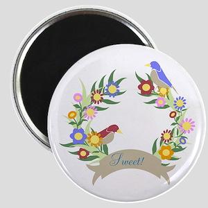 Sweet Bird Wreath Magnet