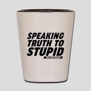 Speaking Truth To Stupid The Newsroom Shot Glass