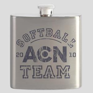ACN Softball Team The Newsroom Flask