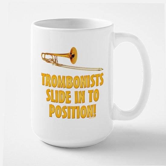 Trombonists Slide In To Position Large Mug