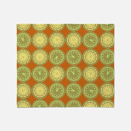 Round clocks pattern Throw Blanket