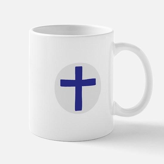 A Cross of Blue Mugs