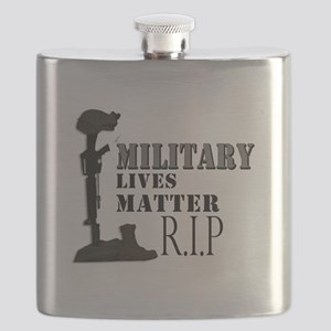 Military Lives Matter Flask
