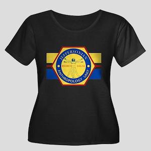 Bones Je Women's Plus Size Scoop Neck Dark T-Shirt