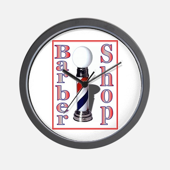 Barber Shop-Red.jpg Wall Clock