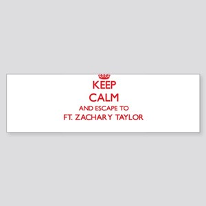 Keep calm and escape to Ft. Zachary Bumper Sticker