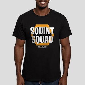 Bones Squint Squad Men's Fitted T-Shirt (dark)