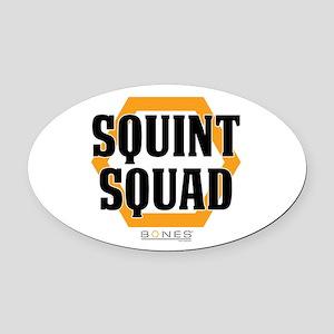 Bones Squint Squad Oval Car Magnet