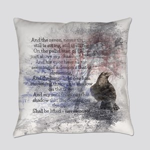 Edgar Allan Poe The Raven Poem Everyday Pillow