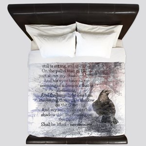 Edgar Allan Poe The Raven Poem King Duvet