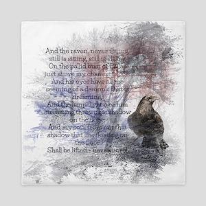 Edgar Allan Poe The Raven Poem Queen Duvet