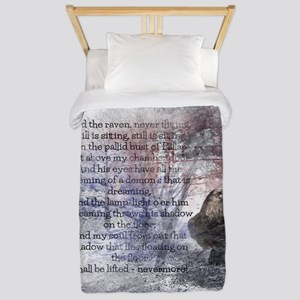 Edgar Allan Poe The Raven Poem Twin Duvet