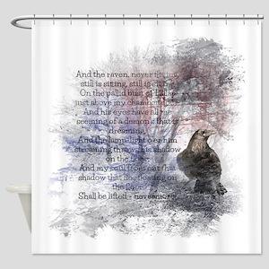 Edgar Allan Poe The Raven Poem Shower Curtain