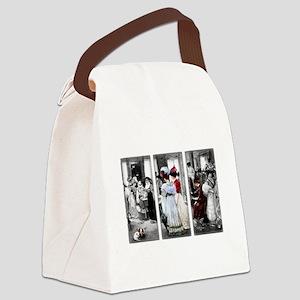 vintage victorian ladies Canvas Lunch Bag