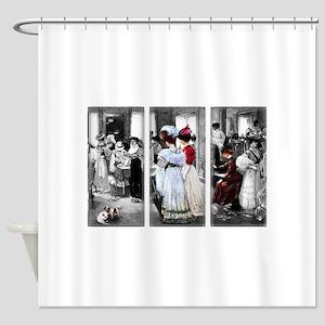vintage victorian ladies Shower Curtain