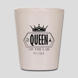 Bones Queen of the Lab Shot Glass
