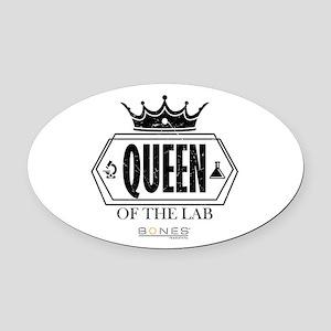 Bones Queen of the Lab Oval Car Magnet