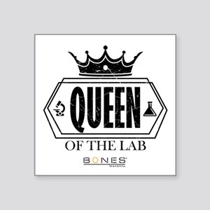 "Bones Queen of the Lab Square Sticker 3"" x 3"""